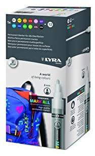 12 colori assortiti Lyra Graduate Mark All 2 mm