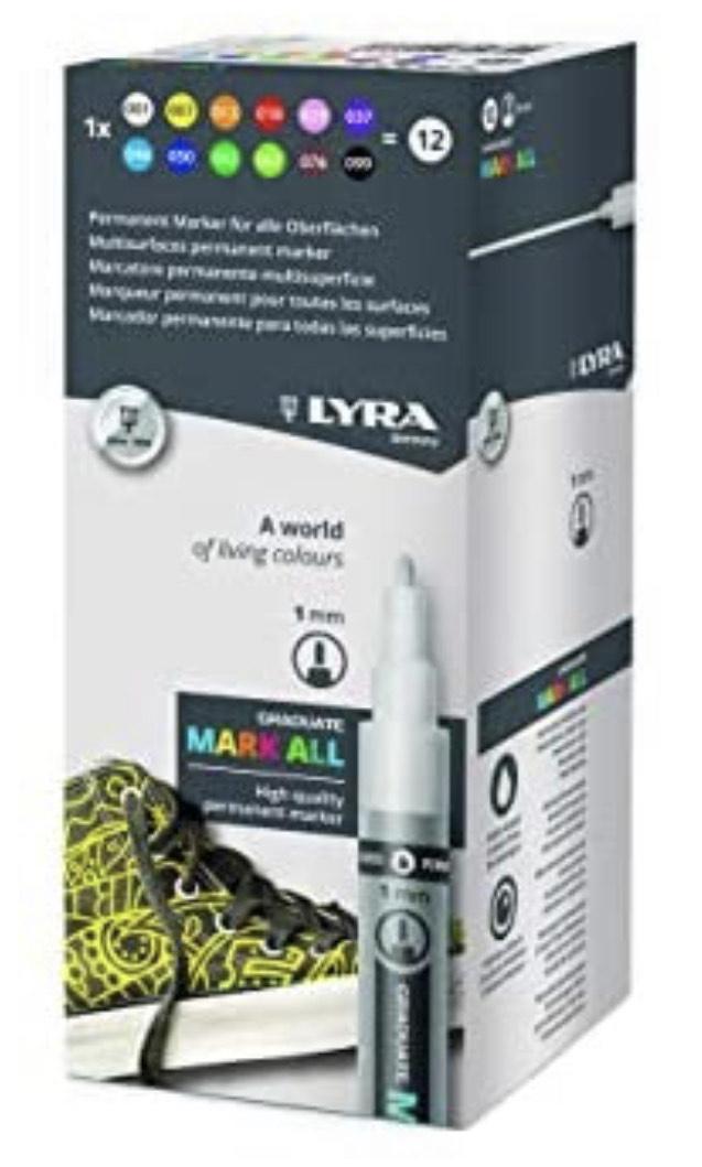 Lyra Graduate Mark All 1 mm Ast 12 colori