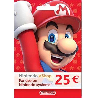 Card 25 EUR eShop Nintendo 19.94€