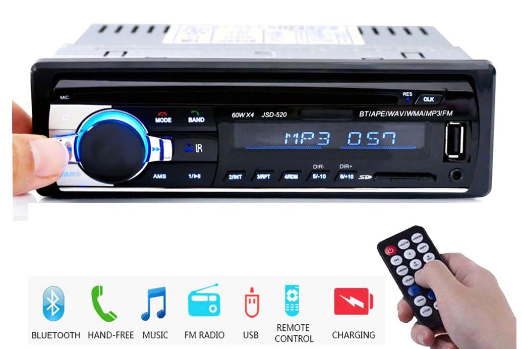 Autoradio Bluetooth con Telecomando - USB 12.4€