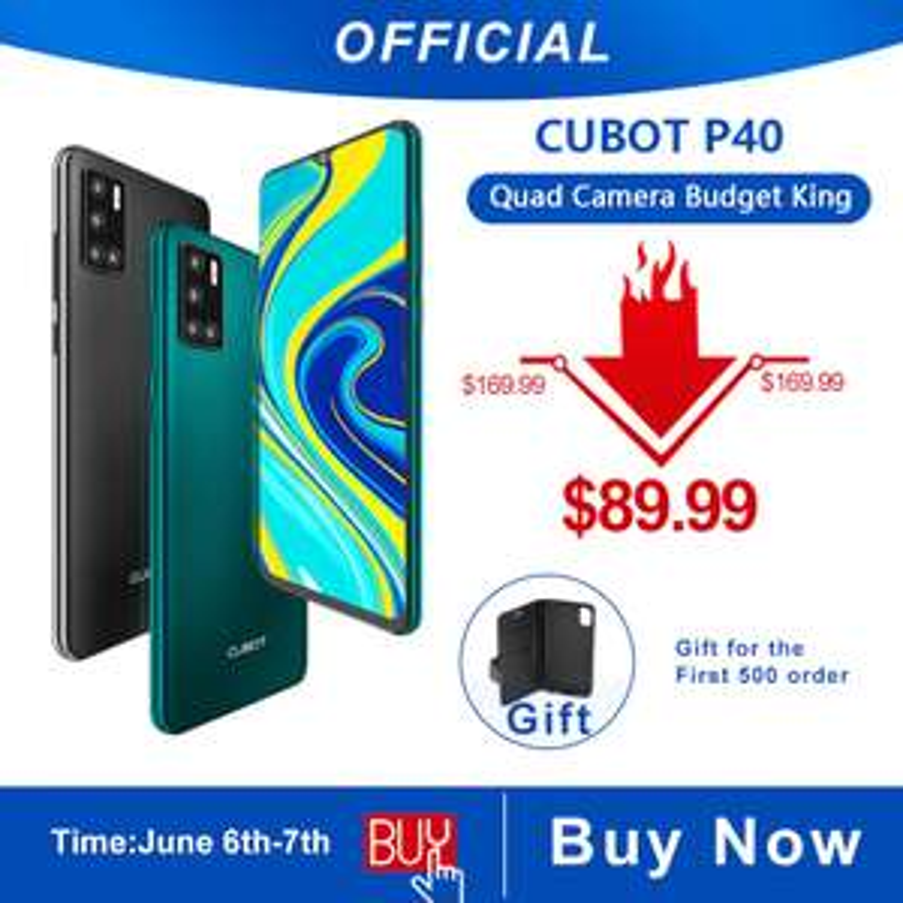 Cubot P40 NFC 4GB/128GB 4200mAh Android 10 SIM Dual