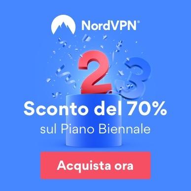NordVPN offerta estiva limitata! Piano biennale con il 70% di sconto a soli 3,11€ al mese, per un totale di appena 74,55€