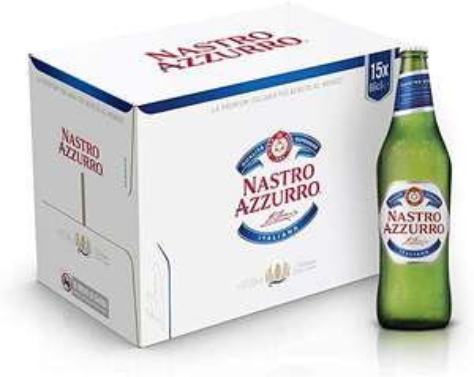 15x bottiglie da 66 cl Birra Nastro Azzurro