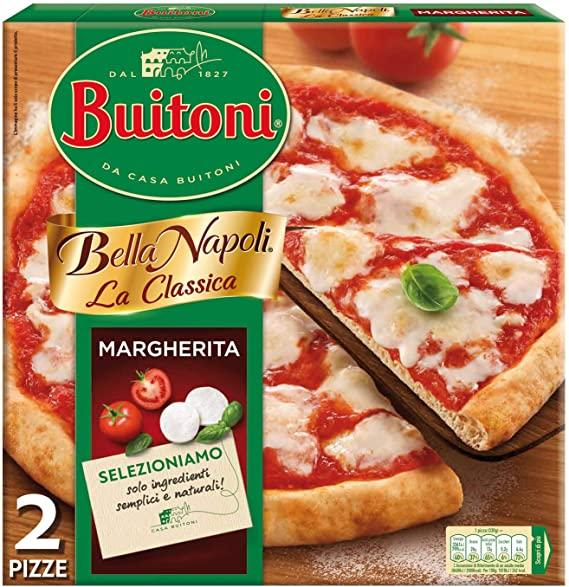 Buitoni Bella Napoli - La Classica Margherita Pizza Surgelata (2 Pizze)