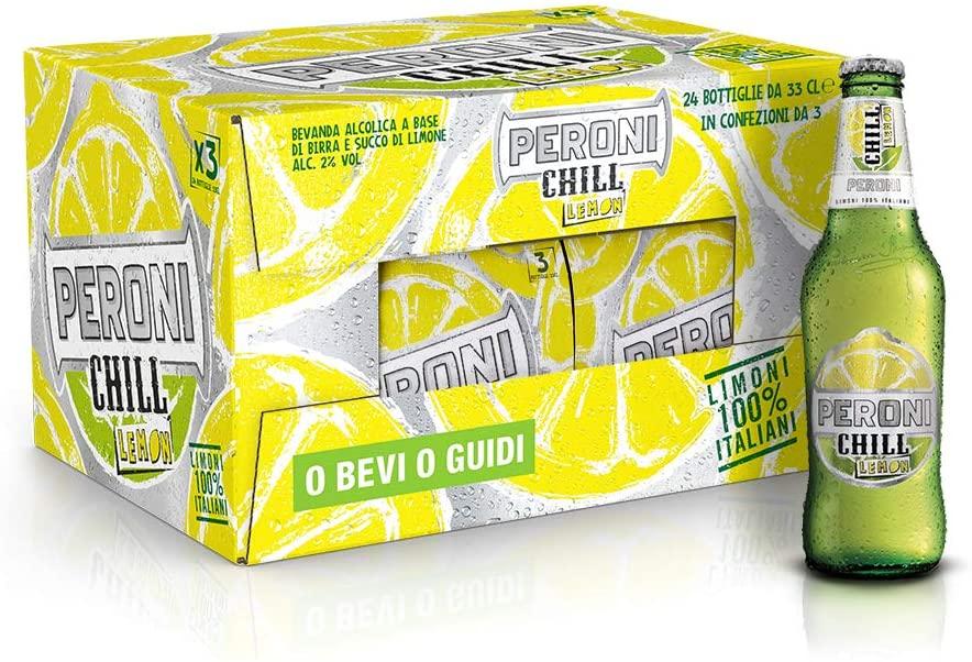 24x Birra Peroni Chill Lemon - 33 cl