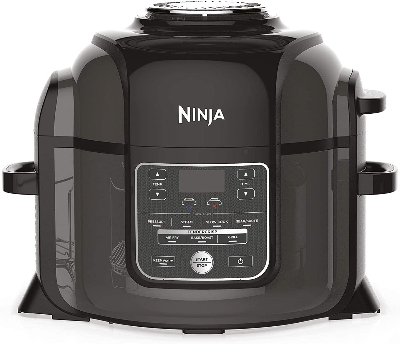 Ninja Air Fryer OP300EU Pentola a Pressione Multifunzione, Fornello Lento, Nero
