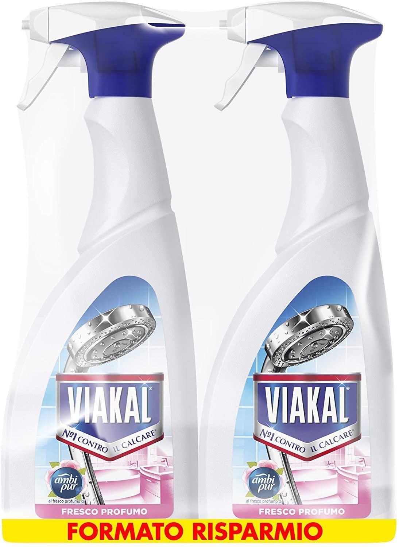 Viakal Detersivo Anticalcare Spray Fresco Profumo 2 Pezzi