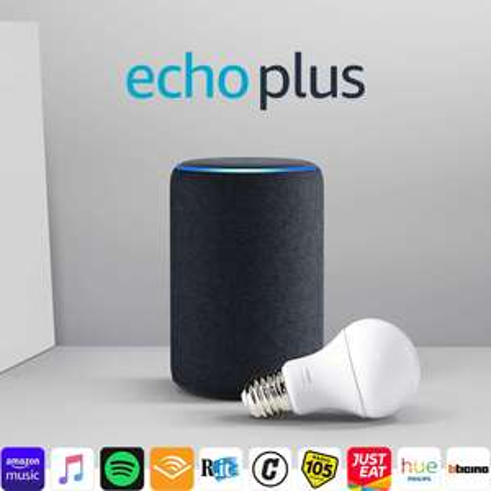 Echo Plus (2ª generazione) + Philips Hue White Lampadina