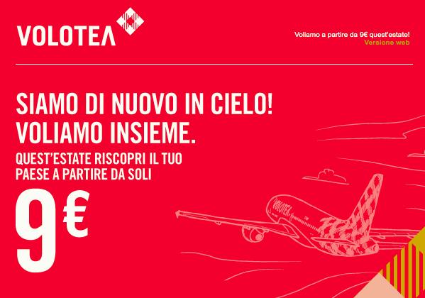 Voli a 9€ con cambio GRATIS sul sito di Volotea