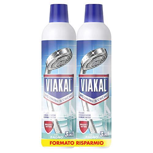 VIAKAL - Detersivo Anticalcare Bagno 3in1 (2x700ml)