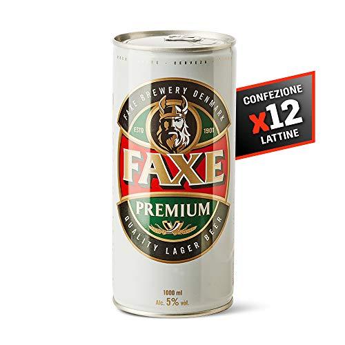 12 x Faxe Lager (Birra Chiara) 1L