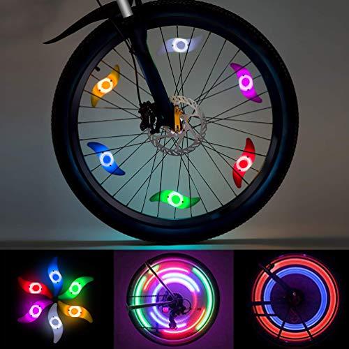 Luci a LED per bicicletta, 8 pezzi multicolare con 3 effetti