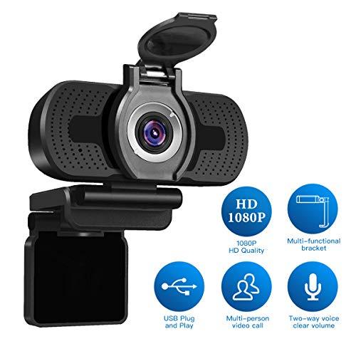 Webcam Full HD LarmTek 1080P con cover per webcam