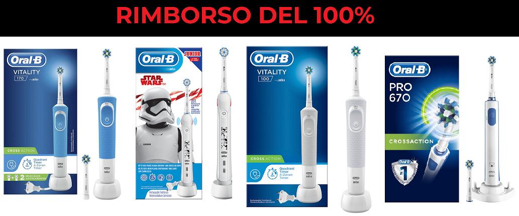 Spazzolini Elettrici Oral-B con Rimborso 100%