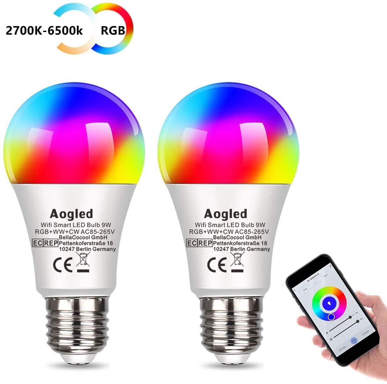 2 Lampadine RGB 9W Smart 10.4€