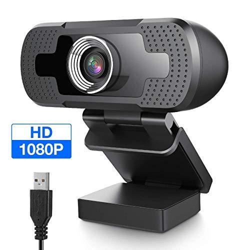EIVOTOR Webcam 1080P con Microfono Full HD