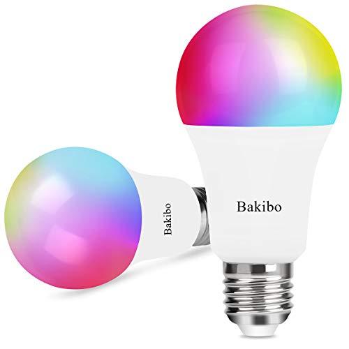 Bakibo Lampadina Wifi Intelligente Led Smart Dimmerabile 9W 1000Lm, E27