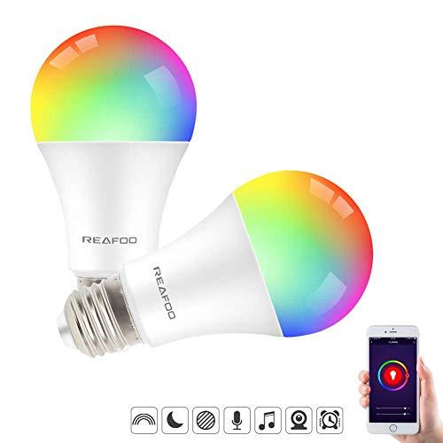 Lampadine Smart Alexa E27 9W LED Wifi REAFOO