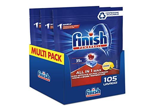 105 pastiglie per lavastoviglie Finish All In One Max