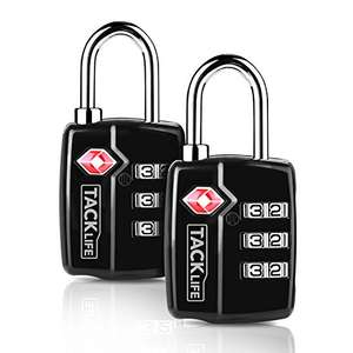 2x TACKLIFE-Lucchetto per valigie con combinazione