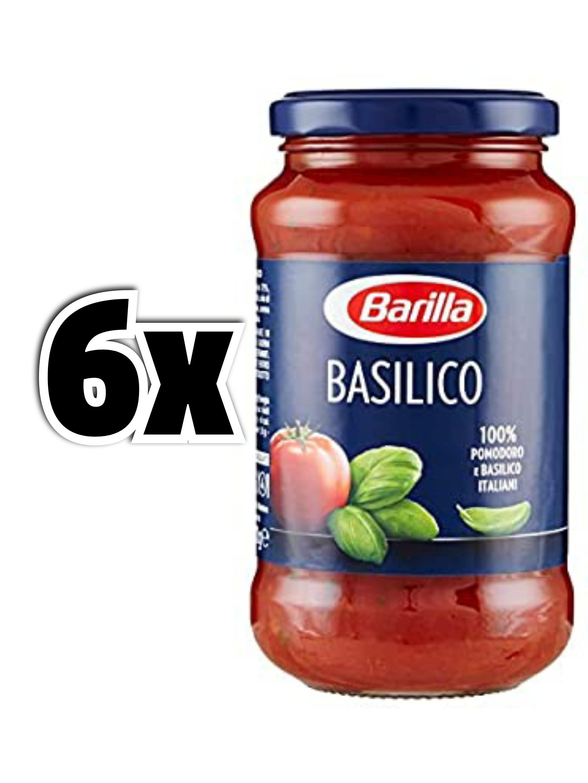 6x Barilla - Sugo con Pomodoro e Basilico, senza Conservanti 400 gr