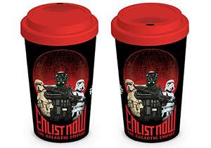 Star Wars Tazza da Viaggio Rogue One, Enlist Now, Ceramica, Multicolore, 12 oz/340 ml