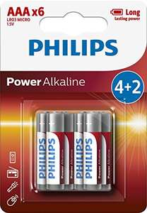 6 batterie Philips LR03P6BP Batteria Alcalina AAA mini stilo