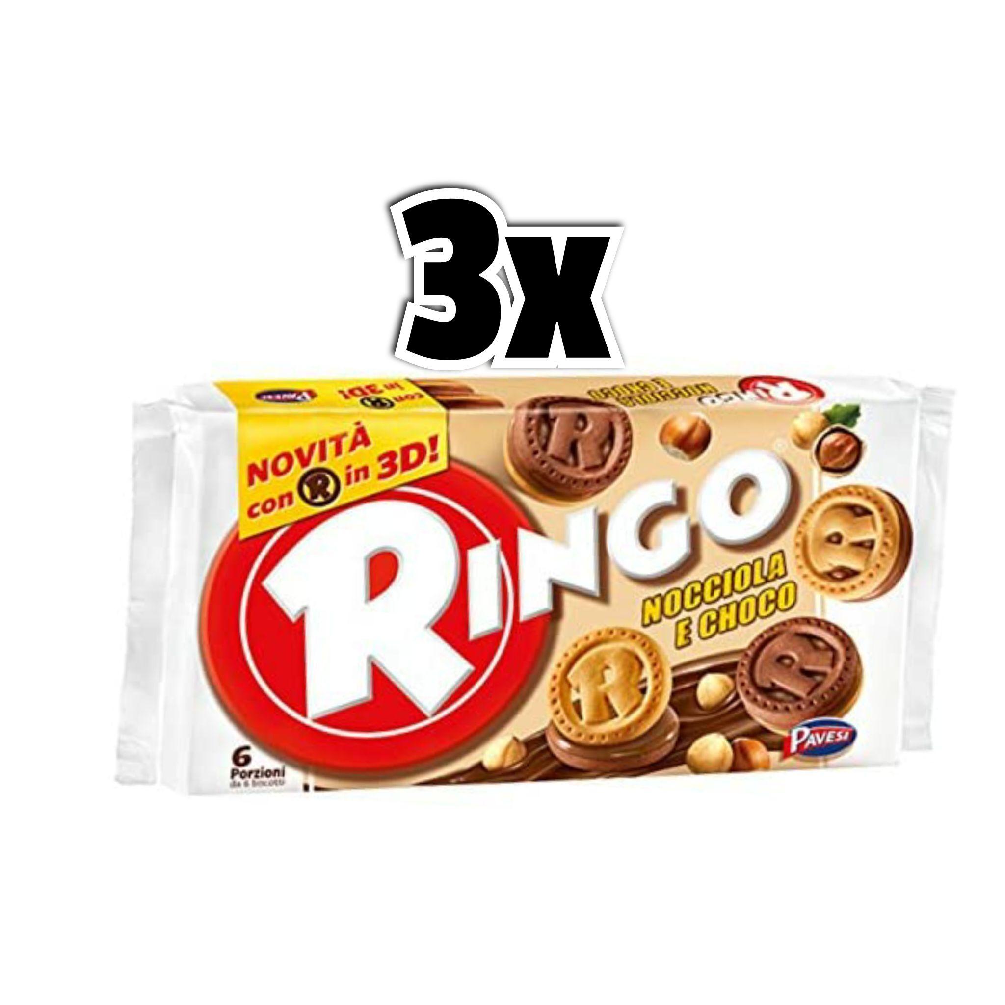 3x6 porzioni Ringo Nocciola e Choco