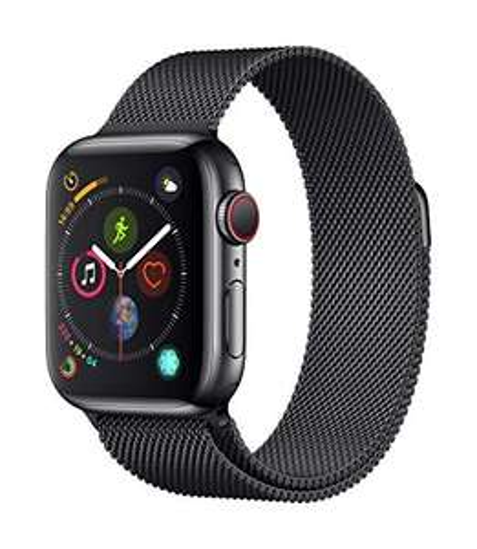 Apple Watch Series 4 (GPS + Cellulare) Cassa 40 mm in Acciaio Inossidabile Nero Siderale e Loop in Maglia Milanese Nero Siderale