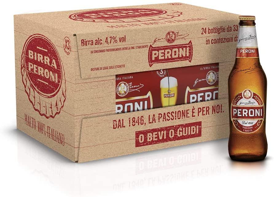 Birra Peroni Cassa 24x33cl 7.7€