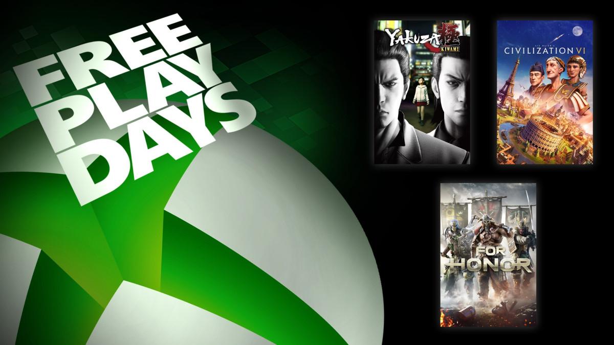 For Honor , Yakuza Kiwami & Sid Meier's Civilization VI [Xbox One] - Free Play Days @ Microsoft Store