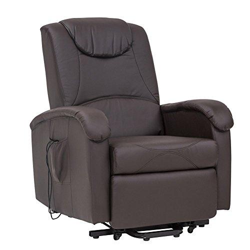 Cribel Poltrona Relax DISA C, Similpelle, Movimento Elettrico con Funzione Alzapersona, Reclinabile, Massaggiante