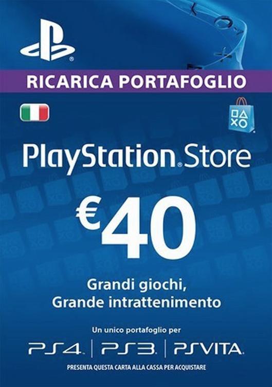 PS Store 40 Euro di Credito a soli 31.7€