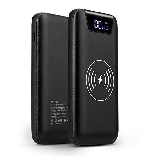 SUNYDEAL Powerbank Wireless 10000 mAh