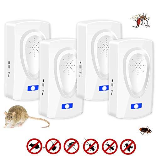 Nitoer Repellente ad Ultrasuoni per Topi,Ultrasuoni per Topi,Trappola per Topi elettrica,Antizanzare ultrasuoni,Anti Topi Ratti Zanzare
