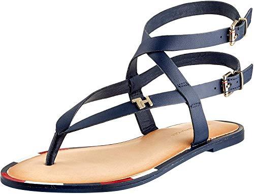 Tommy Hilfiger Elastic Flat Sandal, Infradito Donna