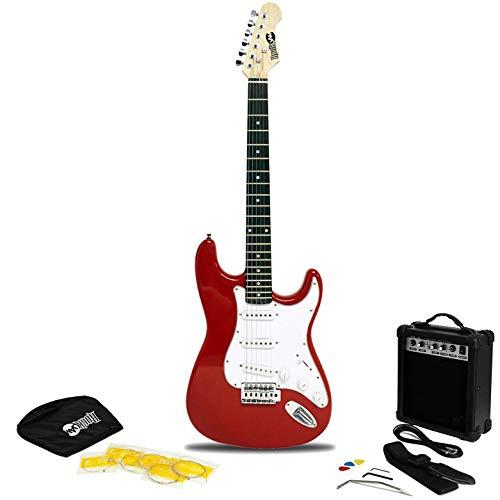 Rockjam Chitarra Elettrica Superkit con Il Sacchetto Chitarra Cinghia della Chitarra e Cavo per Chitarra