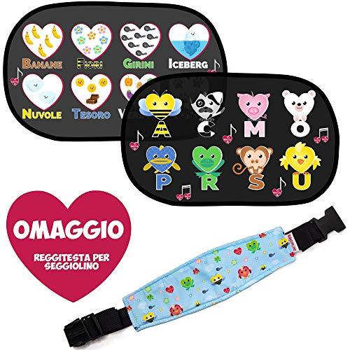 Tendine Parasole Auto Bambini, Oscuranti Finestrini Auto Per Bambini e Neonati, Protezione UV, Tendine Sole Auto Con Mini Gioco