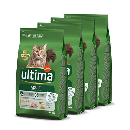 4x1,5kg Ultima Cibo per Gatti Adulti con Pollo