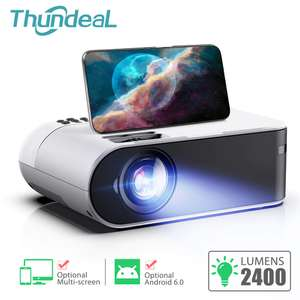 ThundeaL TD60 Mini Proiettore Portatile WiFi Android 6.0 Home Cinema per 1080P Video di Proyector 2400