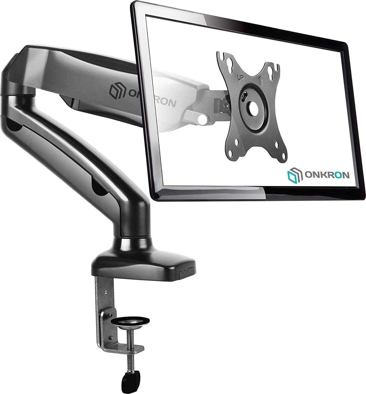ONKRON Supporto monitor scrivania Braccio monitor per schermi 13-27 pollici