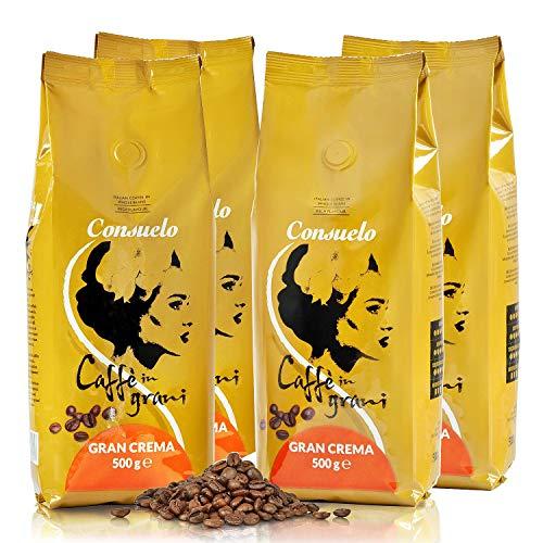 Consuelo Gran Crema Caffè Italiano in Grani, 500g (Confezione da 4)