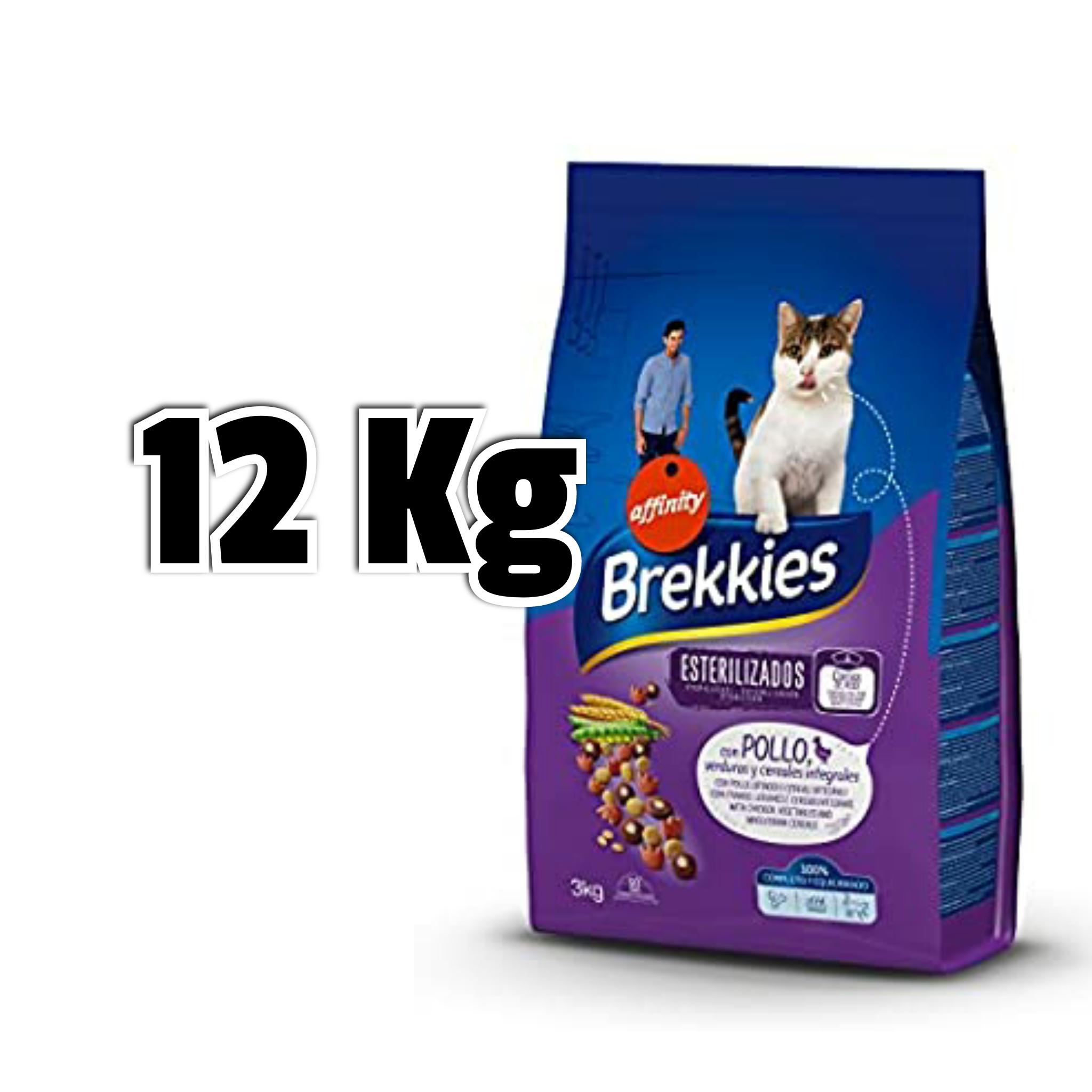 4x 3KgBrekkies crocchette per Gatti con Pollo e Verdure