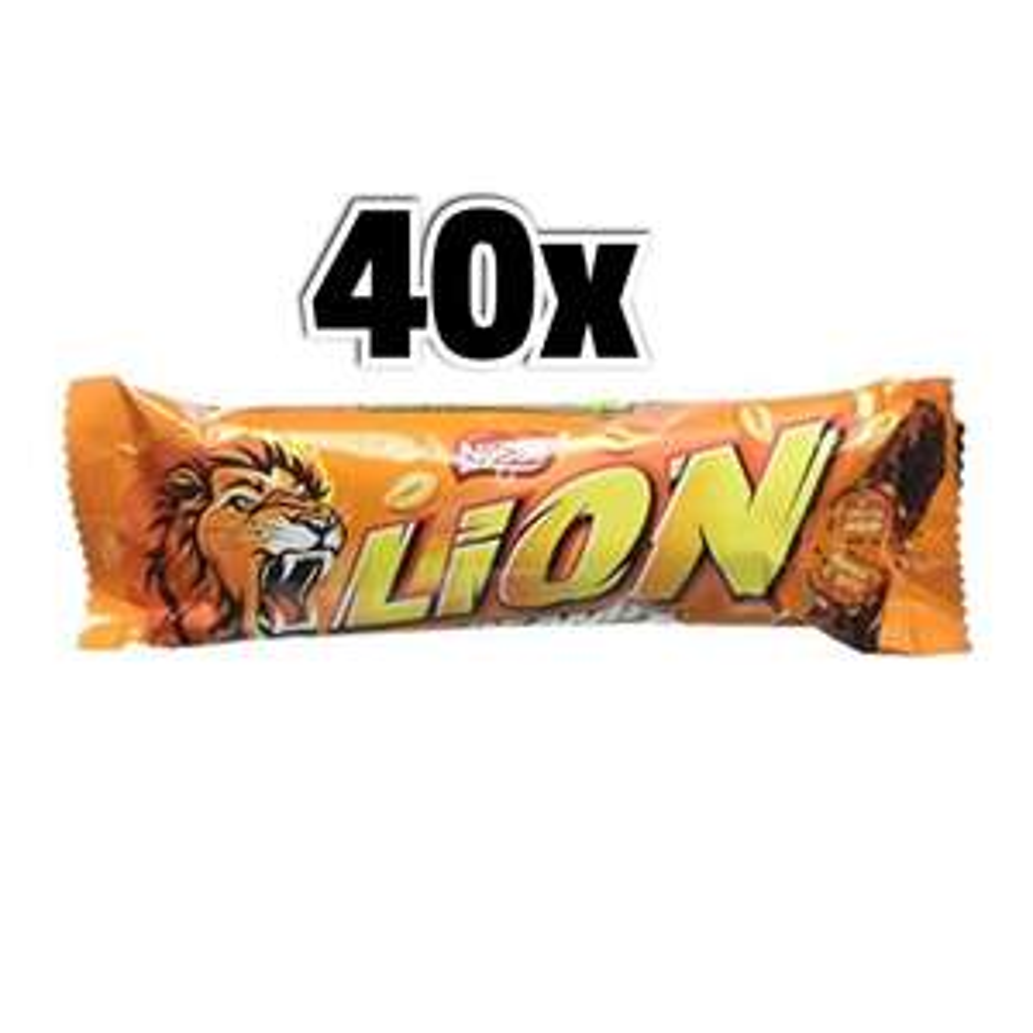 40x Lion Barrette al caramello e arachidi tostate Nestle