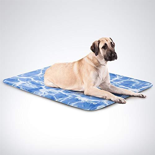 Bedsure Tappetino Refrigerante per Cani e Gatti Grande 90 x 60 cm - Cuscino Refrigerante per Animali con Rinfrescante Modello Oceano