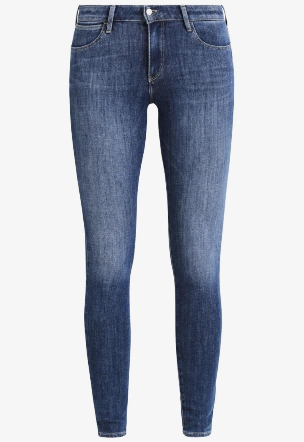 Wrangler SUPER SKINNY - Jeans Skinny Fit - blu denim