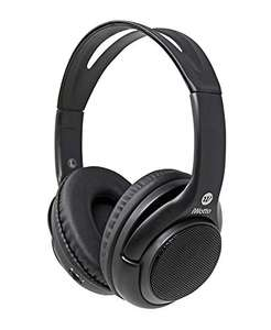 iWotto Cuffie + altoparlanti Bluetooth 2 in 1,Wireless, Stereo, Pieghevoli, Vivavoce, Colore Nero,