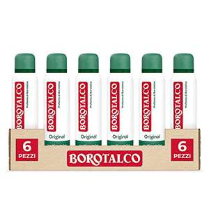 6x Borotalco Deodorante Spray Original, 150 ml