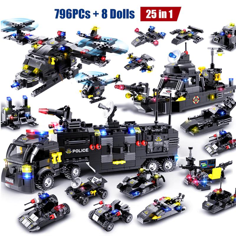 418 pezzi + 3 personaggi: Costruzioni SWAT