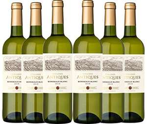 6x Collines Antiques, Bordeaux bianco DOC, annata 2017 750ml (disp. anche rosè)